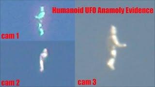 Humanoid Ufo Anomoly Captured on 3 Cameras over LA undeniable footage