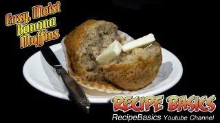 Easy Moist Banana Muffins Recipe