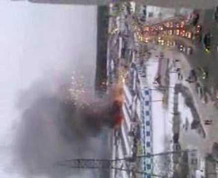 Пожар на рынке КОР
