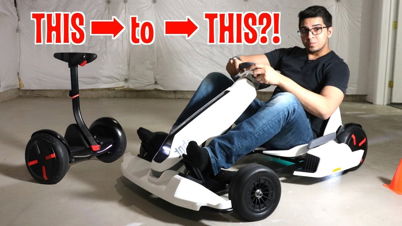 Unboxing & Let's Drive - GoKart Kit by NineBot - Segway turns into a Tesla  Gokart!