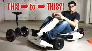 Unboxing & Let's Drive - GoKart Kit by NineBot - Segway turns into a Tesla Gokart!
