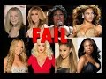 Female famous singers vocal fails (Barbra, Beyonce, Aretha, Celine, Whitney ...)