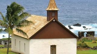 Huialoha church in Kaupo  Maui  Hawaii