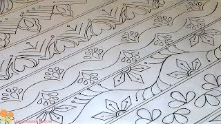 nakshi kantha drawing design-81, how to nokshi katha drawing, নকশী কাথার ডিজাইন, नोक्षी कथा डिजाइन