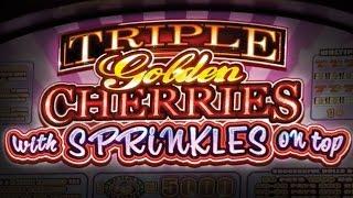 Triple Golden Cherries Slot - $5 Max Bet Bonus!