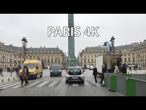 Paris Drive 4K - Christmas Holiday Season - France