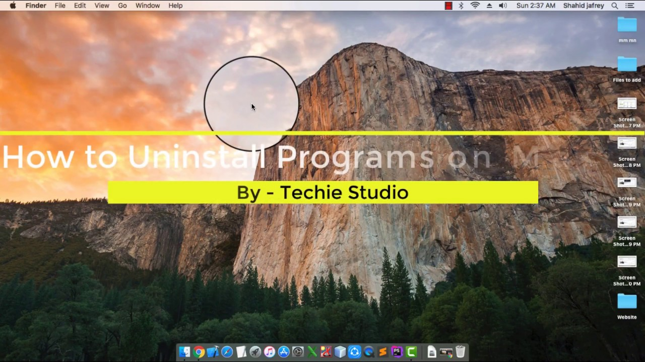 How to uninstall a program on macbook pro