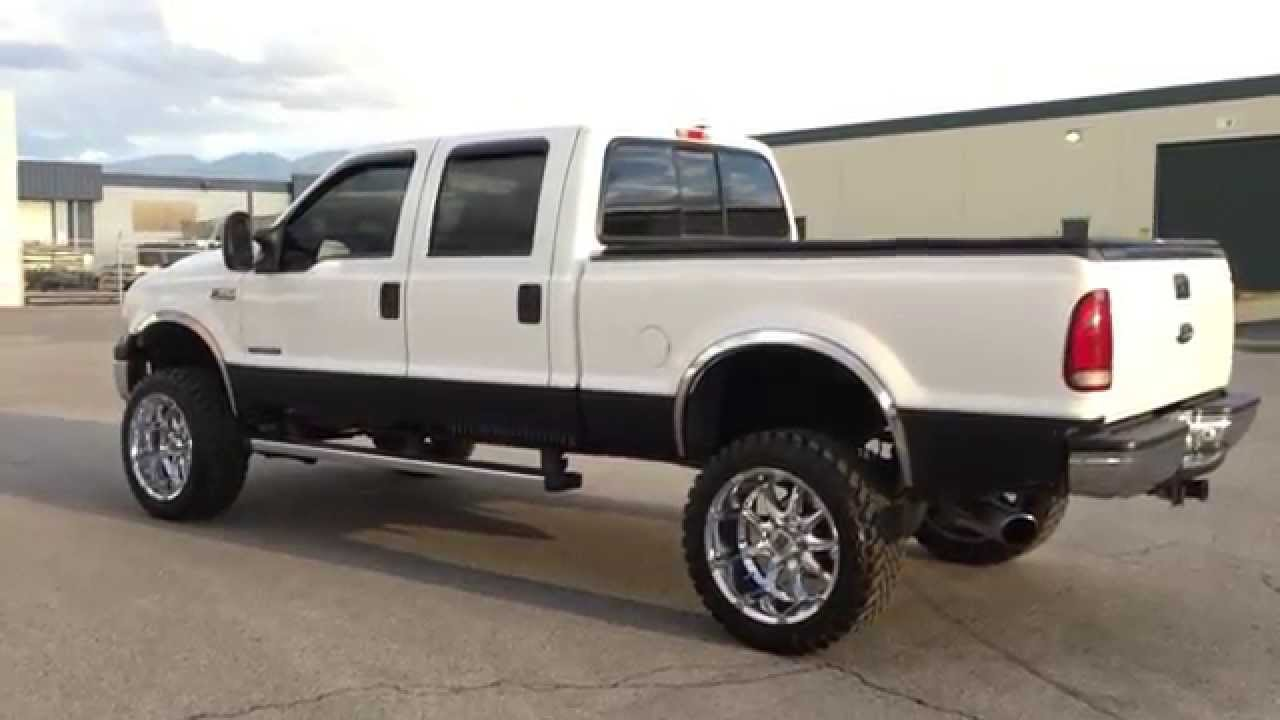Diesel Dealscom Lifted 2000 Ford F350 Crew Lariat 4x4 73 F 350 Fuse Box Com Powerstroke Turbo 119k Youtube