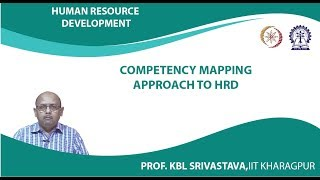 Lecture 36 : Competency Mapping Approach to HRD