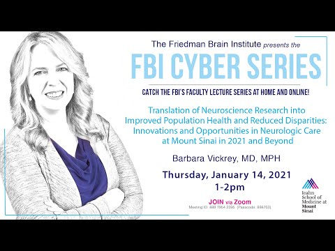 FBI Cyber Series - by Barbara Vickrey, MD MPH