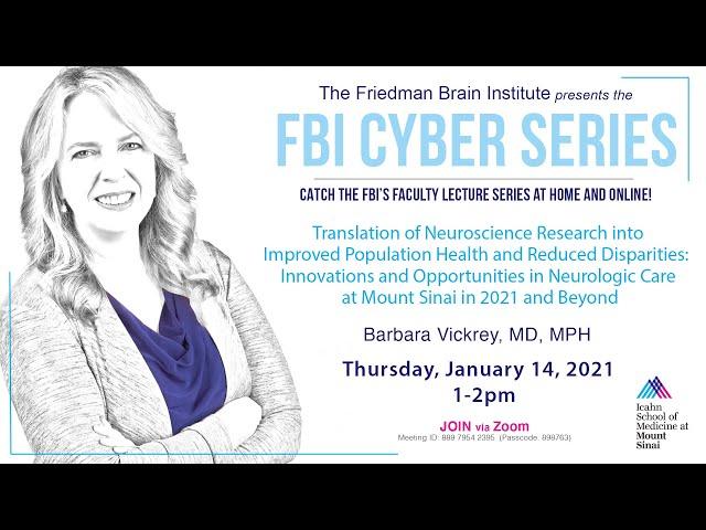 FBI Cyber Series - by Barbara Vickrey, MD MPH