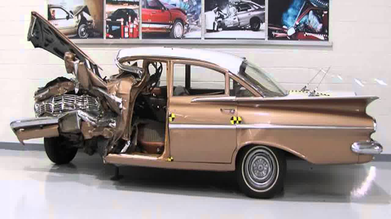 Crash Test 1959 Chevrolet Bel Air Vs 2009 Chevrolet