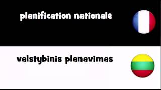 Traduction en 20 langues # planification nationale