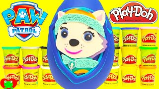 Paw Patrol Everest Play Doh Surprise Egg Learning with Shopkins