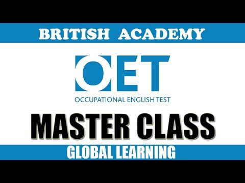 #Trending   OET MASTER SESSION FOR ALL MODULES BY GEORGE | August 11 Exam 2018