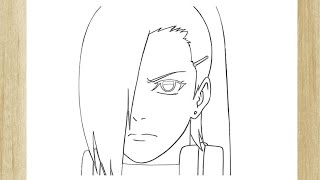 HOW TO DRAW INO YAMANAKA FROM NARUTO ///  COMO DESENHAR A INO DE NARUTO