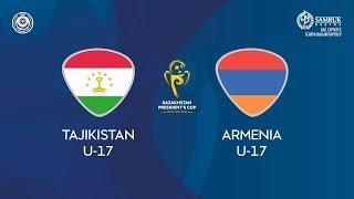 Кубок Президента РК  Таджикистан U 17 – Армения U 17 КФФ ТВ