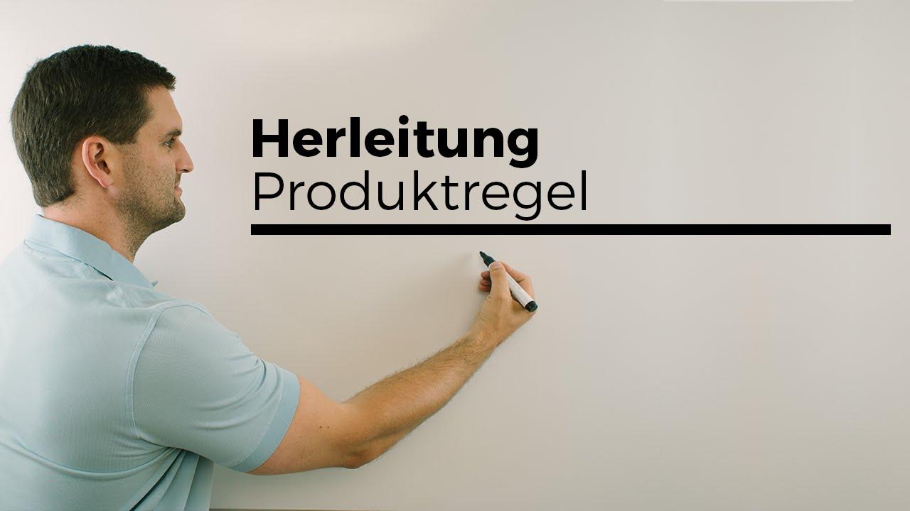 Herleitung Produktregel zum Ableiten, mit h-Methode ...