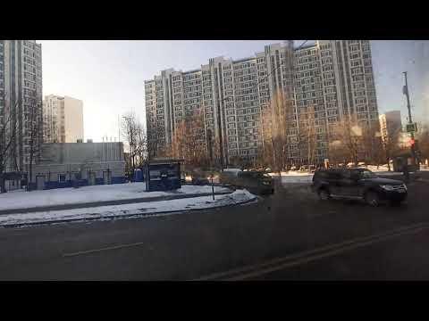. Москва. Теплый стан-Юго-Западная. Поездка на автобусе 953. 8 февраля 2020 г.