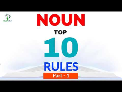 Noun Rules for Competitive Exams SSC CGL/ CHSL/ BANK PO/ Clerk Part 1
