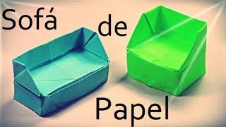 Sofá de papel - Origami