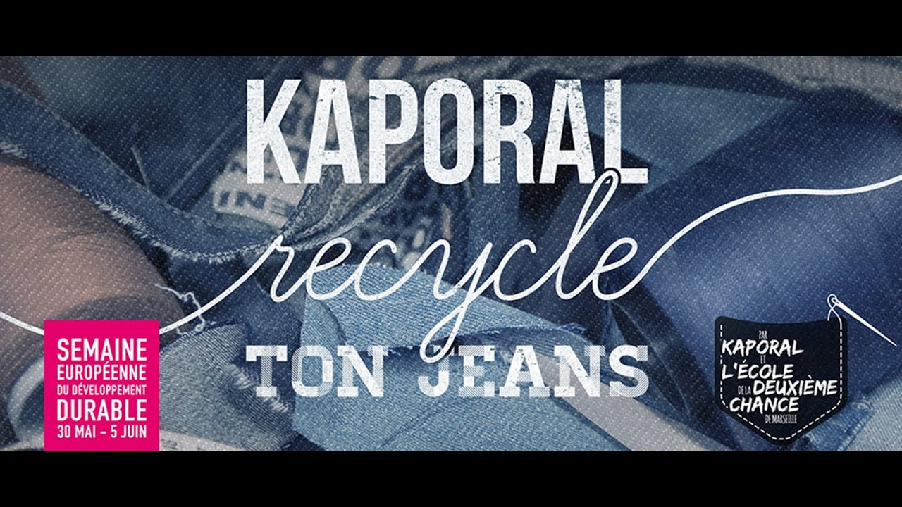Poster design jeans - Kaporal Recycle Ton Jeans