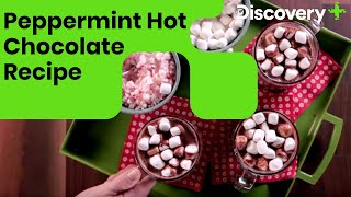 How to make Peppermint Hot Chocolate | Hot Chocolate With Peppermint Recipe | Discovery Plus India