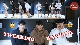 Baixar [Coreanas Latinas] Coreanos reaccionan y aprenden baile latino (TWERKING+BACHATA)