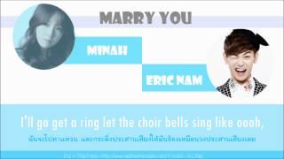 [Thaisub - Karaoke] MINAH (& Eric nam) - Marry you