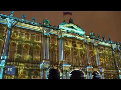 3D-projection show in Russia celebrates 252-year anniversary of Hermitage Museum
