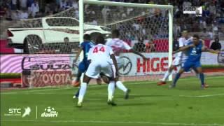 هدف الهلال الأول ضد الوحدة في الجولة 14 من دوري عبداللطيف جميل