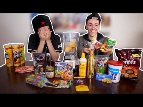 BLENDING EXPIRED FOOD (Extremely Gross Smoothie Challenge) | WheresMyChallenge