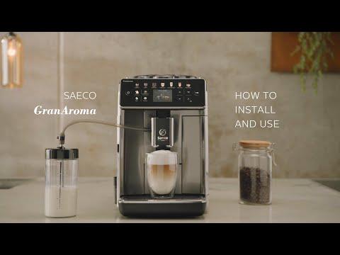 How to install and use my Saeco GranAroma?