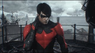 Batman: Arkham Knight (PC) - Nightwing: GCPD Lockdown (New 52 Nightwing)(Full DLC Walkthrough)