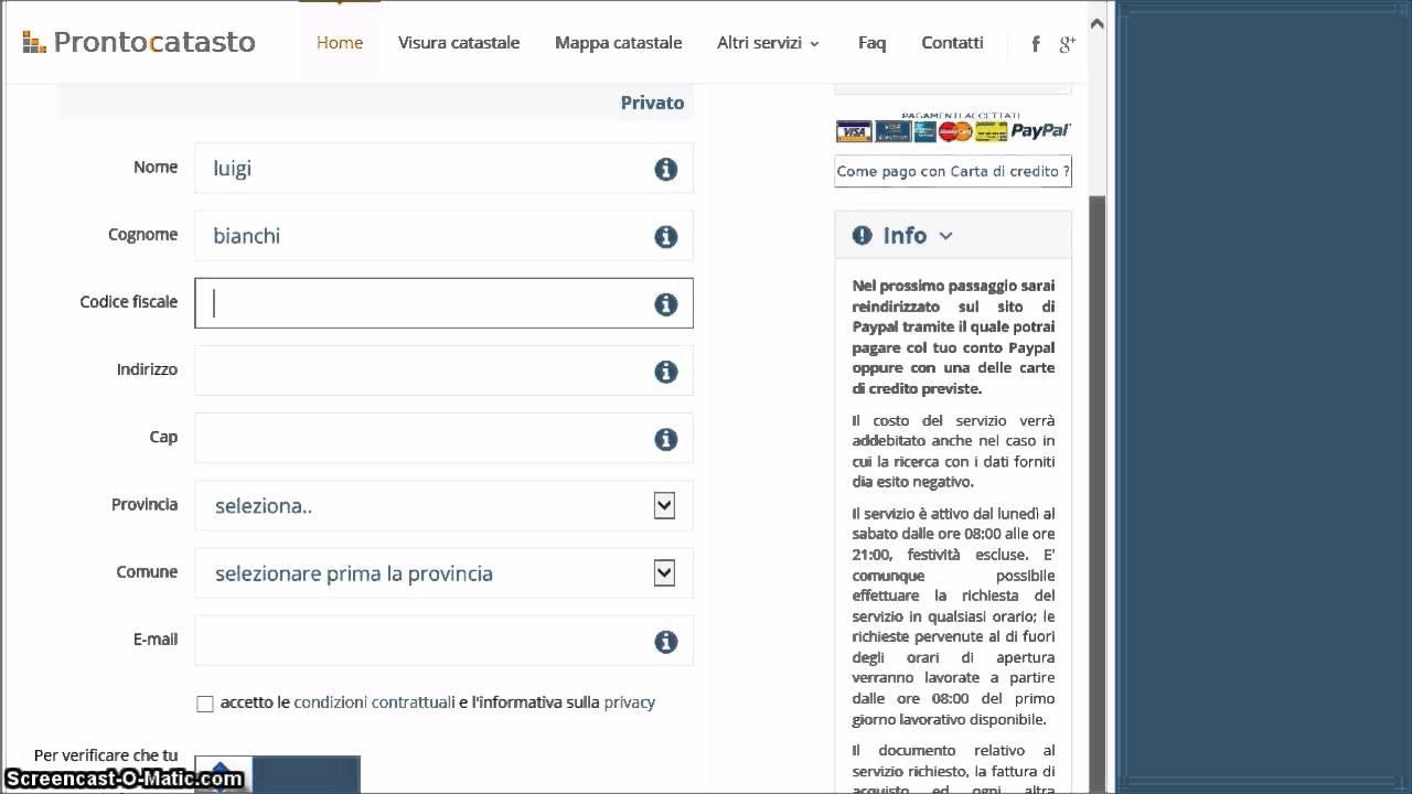 Visura catastale online per dati catastali youtube for Visura catastale per soggetto gratis