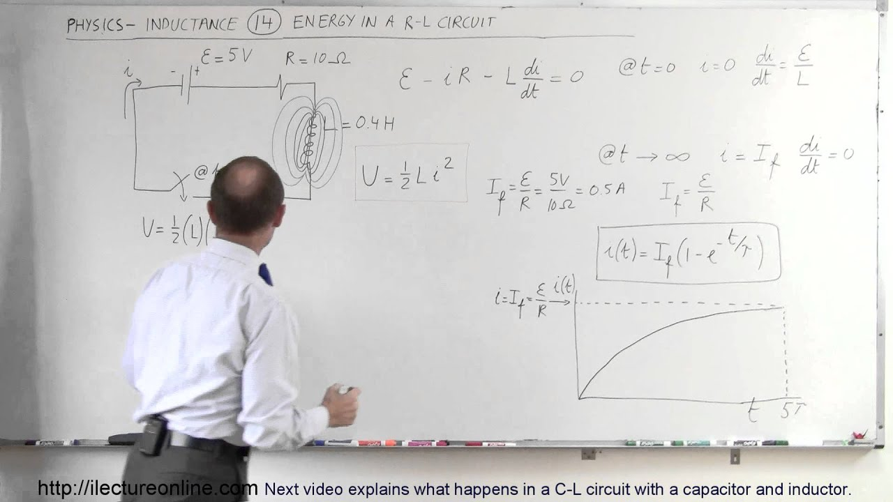 Physics - E&M: Inductance (14 of 20) Energy Stored in a R-L Circuit ...