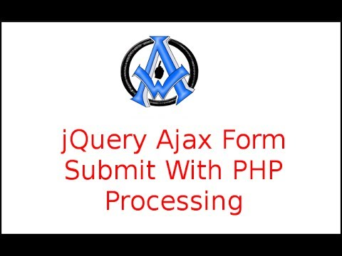 jquery ajax form submit with php processing youtube