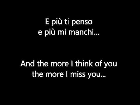 E Piu ti Penso Italian & English lyrics | Ariana Grande & Andrea Bocelli