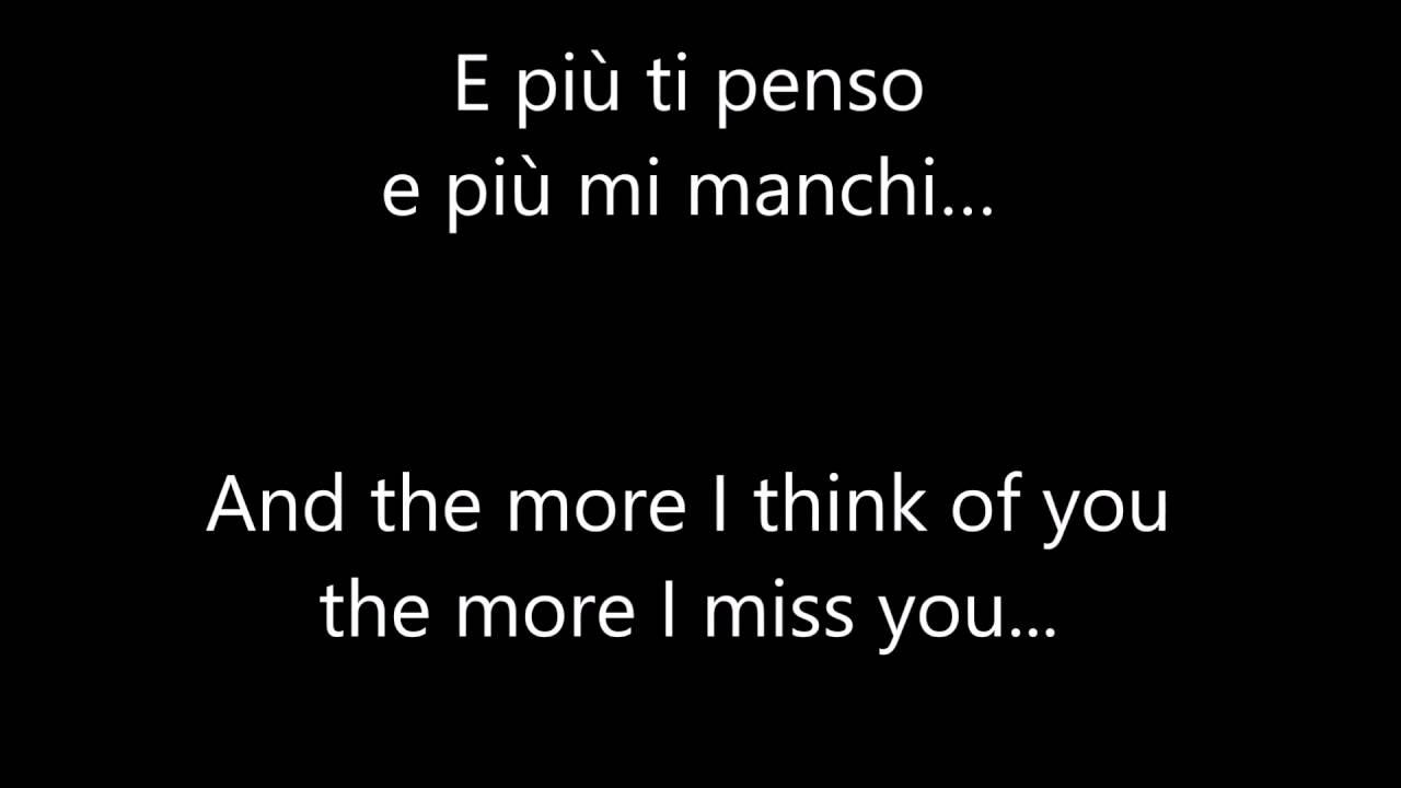 E Piu ti Penso Italian & English lyrics   Ariana Grande & Andrea Bocelli - YouTube