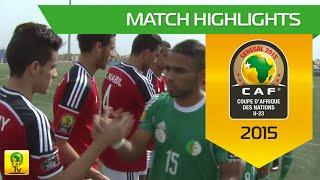 Egypt vs Algeria | U-23 Africa Cup Of Nations, SENEGAL 2015