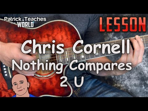 Chris Cornell-Nothing Compares 2 U-Guitar Lesson-Tutorial-How to Play-Easy