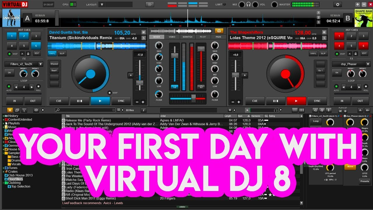 Your First Day With Virtual DJ 8 - Tutorial for new DJs