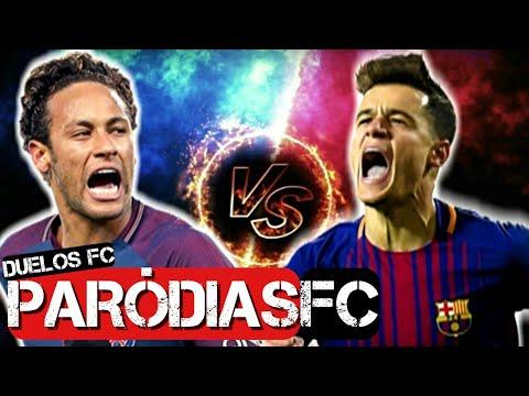 ♫ NEYMAR vs COUTINHO | DUELOS FC #11 | Paródia Pega a Receita