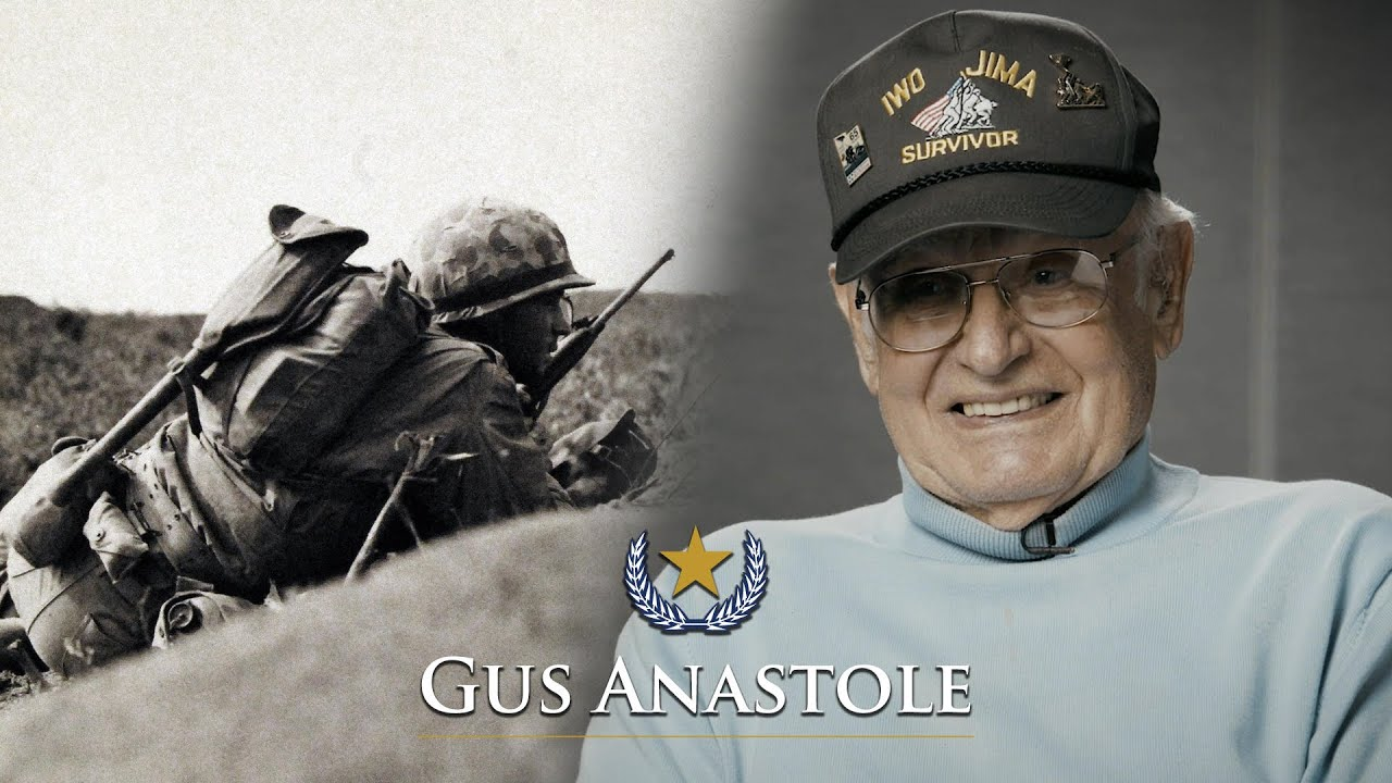 Iwo Jima USMC Vet Gus Anastole tells his story (Full Interview)