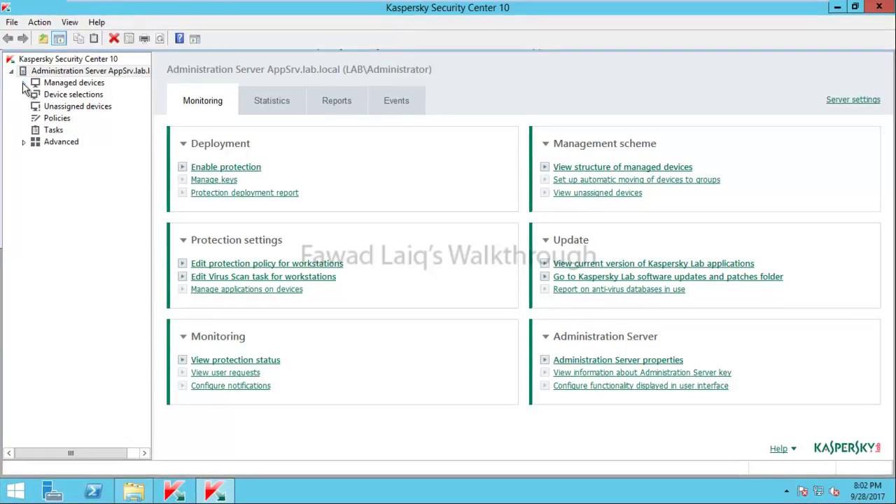 kaspersky endpoint security 11 windows server 2012 r2