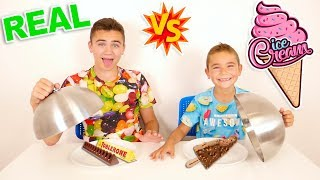 ICE CREAM vs REAL FOOD CHALLENGE !!! Vraie nourriture ou Glace ?