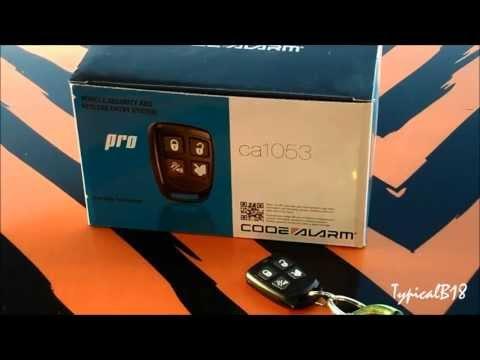 Code Alarm Model CA1053 Basic Alarm/Keyless Entry Demo (Installed On 94 Acura Integra)