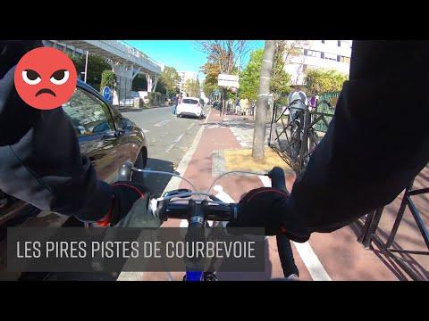 Les pires pistes cyclables de Courbevoie 🚲  ❤️
