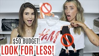 $50 OUTFIT CHALLENGE ft. OLIVIA JADE! | Lauren Elizabeth