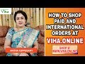 HOW TO SHOP PAID AND INTERNATIONAL ORDERS AT VIHA.ONLINE